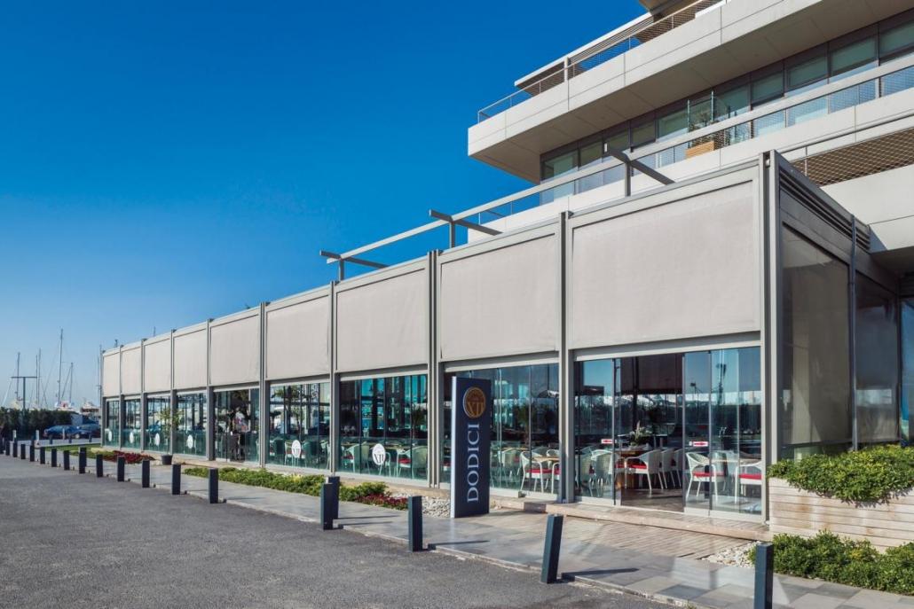 K1024 Palmiye RetractablePergolas 16 1030x687 - Terrassenüberdachungen Gastronomie   Pavillons