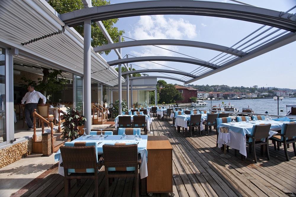 Palmiye Pergola Bridge 04 - Terrassenüberdachung für Biergärten & Freiflächen