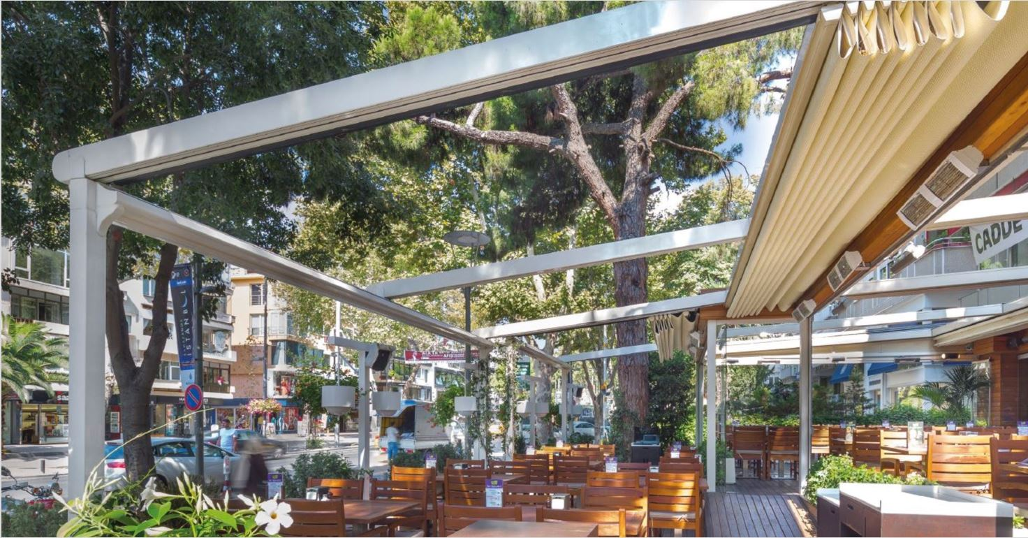 pergola systeme palmiye Terrasse Gastronomie Hotel FB3 - Pergola-Systeme