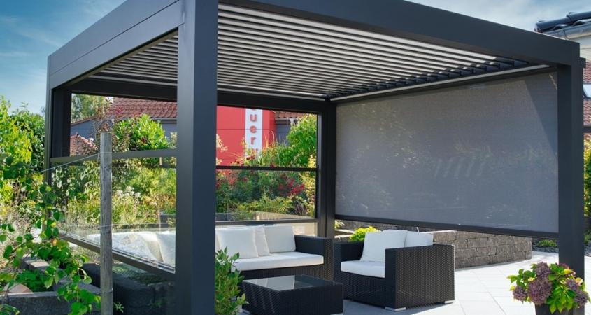lamellendach skyroof palmiye terrassenueberdachung privat 76springe B 845x450 - Lamellendach, perfekt geschützter Terrassenplatz