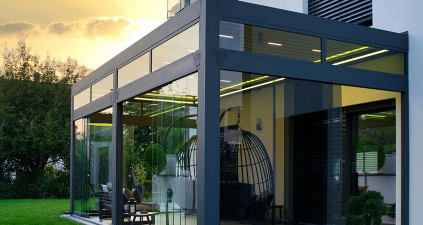 lamellendach skyroof palmiye terrassenueberdachung privat springe 19 845x450 - Lamellendach & Wintergarten - Referenz Projekt von PALMIYE