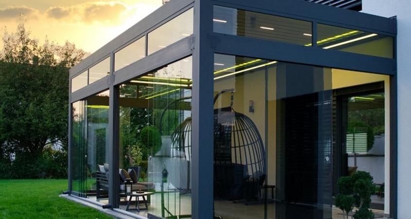 lamellendach skyroof palmiye terrassenueberdachung privat springe B 845x450 - Stilvoll, Lamellendach & Wintergarten - Referenz Projekt von PALMIYE