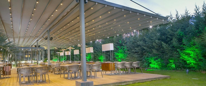 Palmiye Pergola Marin Gastro Biergarten - Terrassenüberdachung für Biergärten & Freiflächen