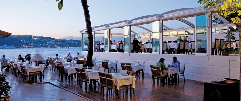palmiye pergola pavillon crown gastro see - Terrassenüberdachungen Gastronomie   Pavillons