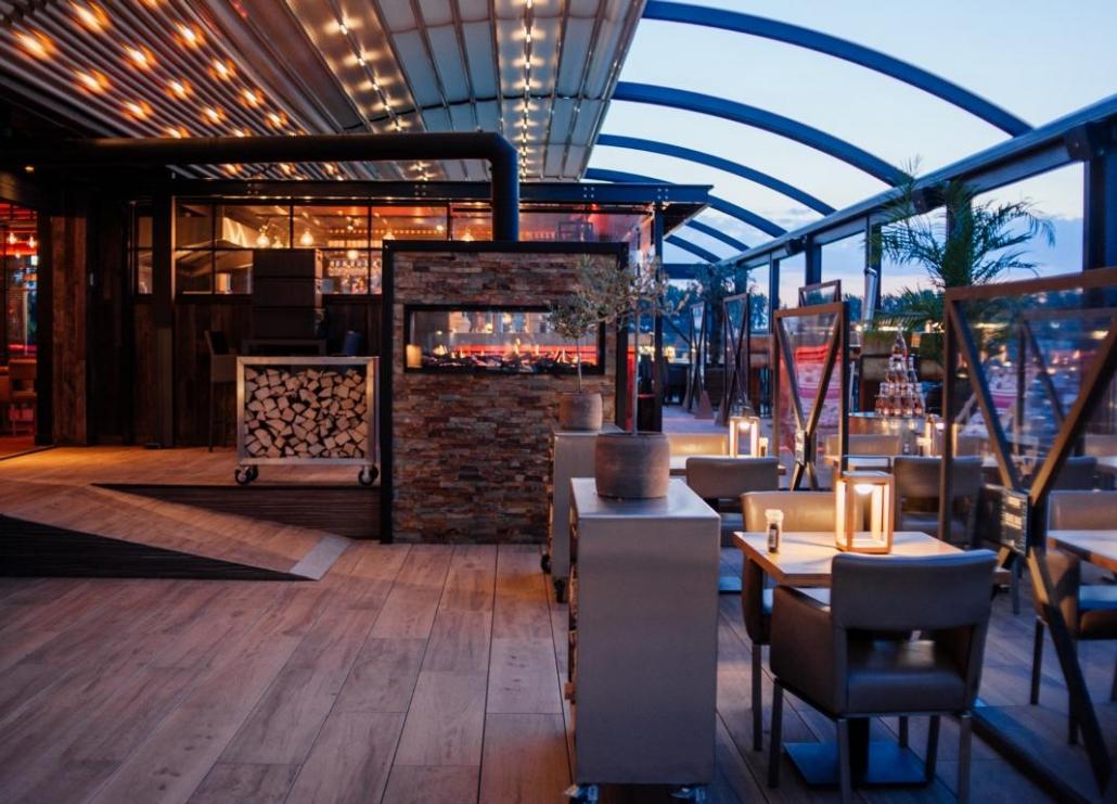 pergola crown palmiye terrassenueberdachung gastronomie dd 7 1030x741 - Riesige Terrassenüberdachung Restaurant Dukdalf – Referenzprojekt