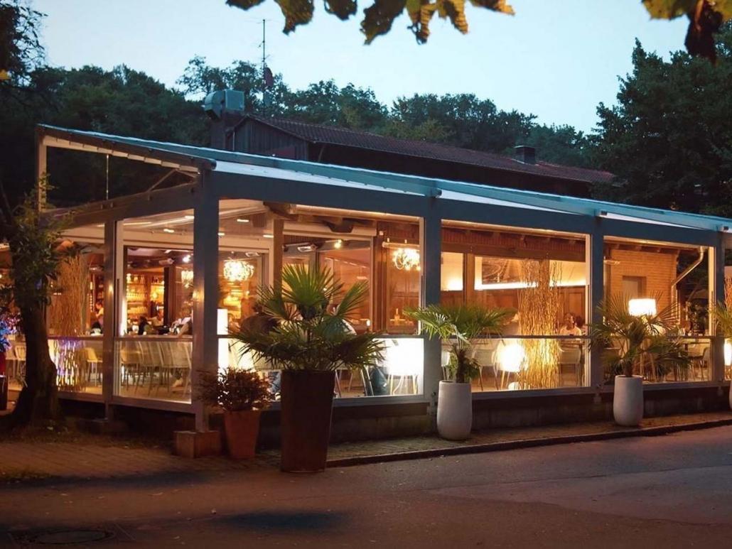 palmiye terrassenueberdachung gastronomie bischofshol 1030x773 - Terrassenüberdachungen Gastronomie   Pavillons