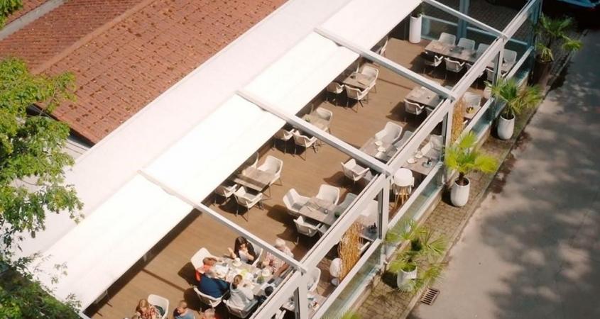 palmiye terrassenueberdachung gastronomie bischofshol 7.1 845x450 - Terrassenüberdachung Restaurant BISCHOFSHOL