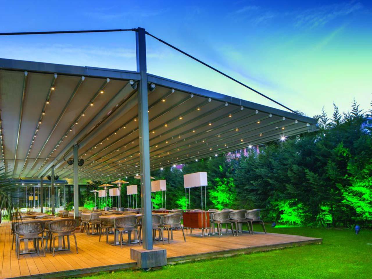 pergola marine palmiye terrassenueberdachung gastronomie biergaerten freiflaechen - Terrassenüberdachung für Biergärten & Freiflächen