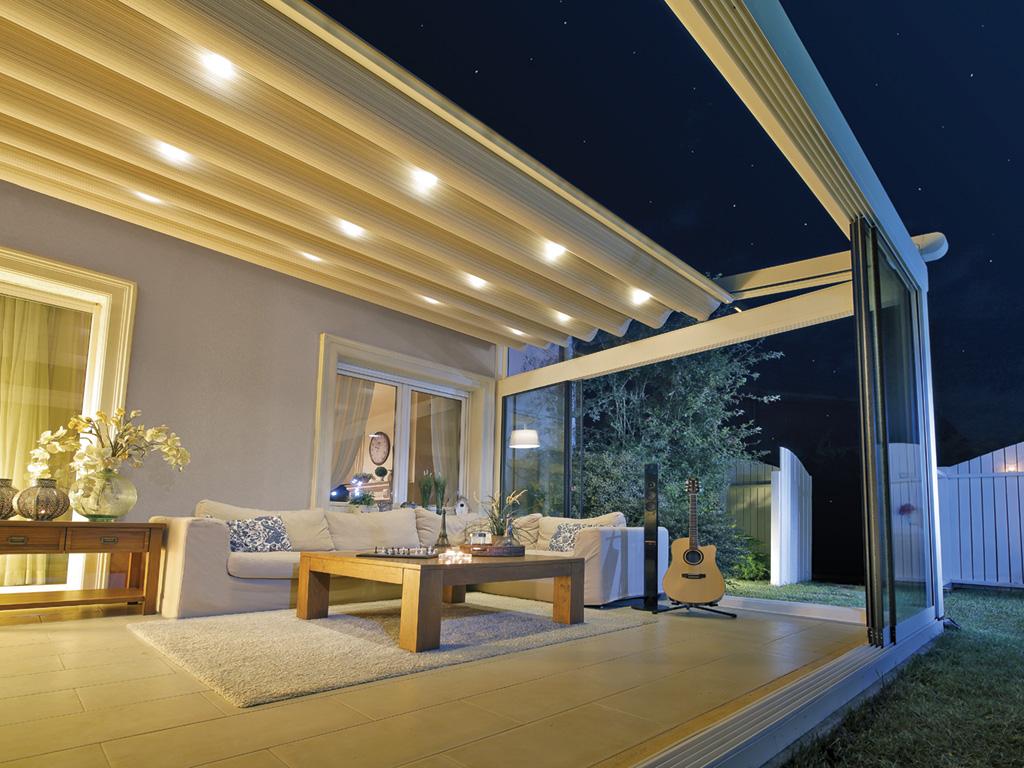 pergola palmiye terrassenueberdachung diverse nacht - Pergola-Systeme