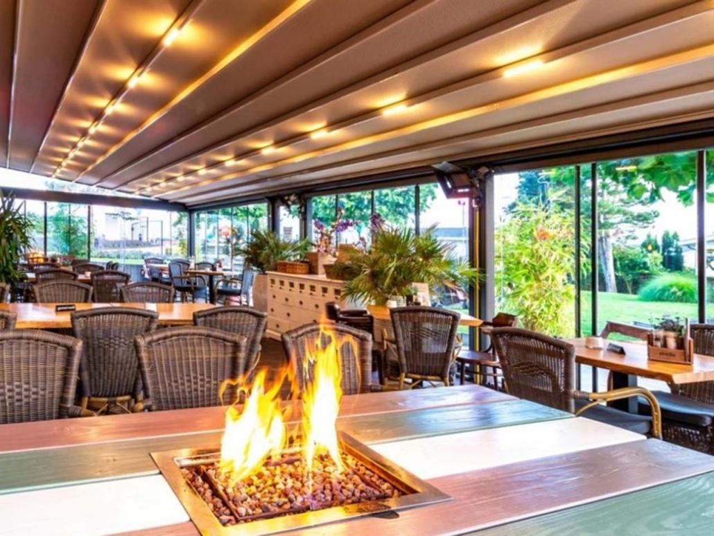 pergola silver palmiye terrassenueberdachung gastro restaurant 1030x773 - Terrassenüberdachungen Gastronomie   Pavillons