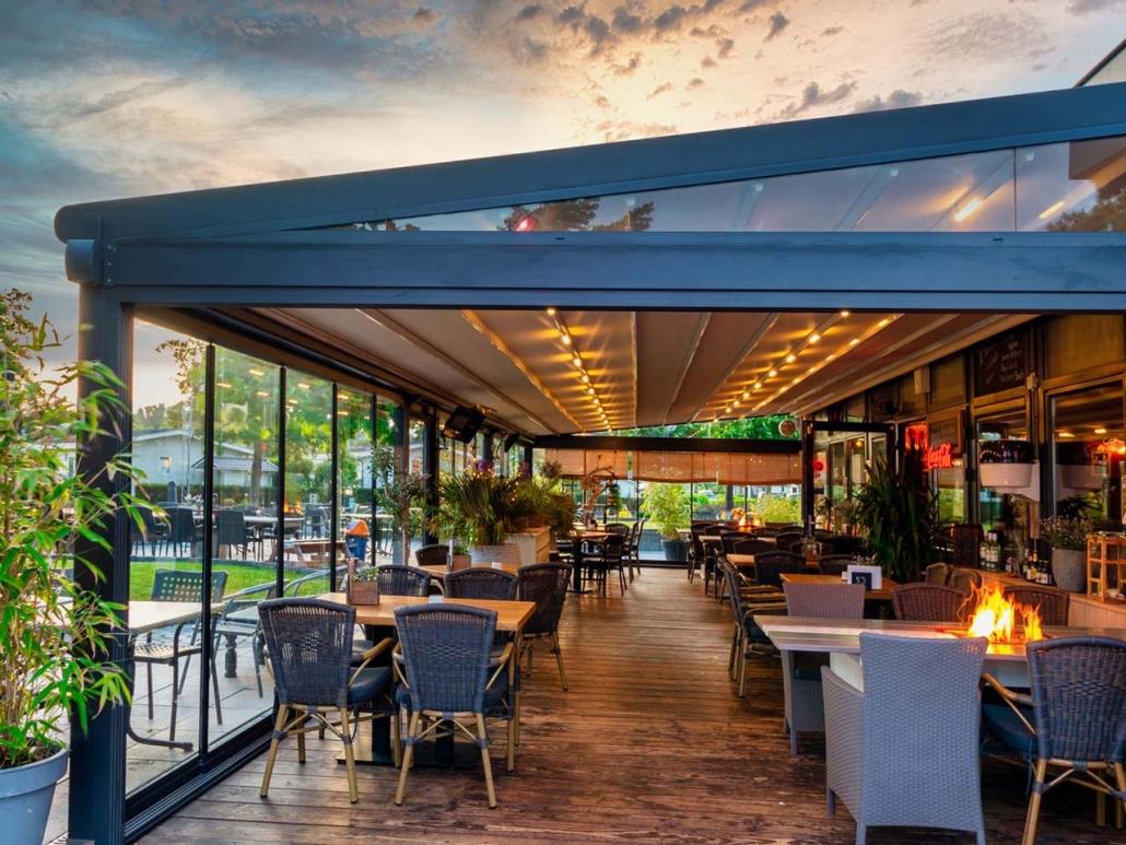 pergola silver palmiye terrassenueberdachung gastronomie pavillions 12 1030x773 - Terrassenüberdachungen Gastronomie   Pavillons