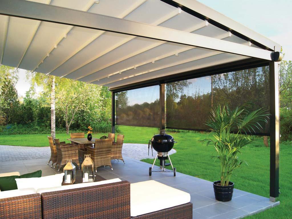 pergola silver palmiye terrassenueberdachung privat grillen sonnenschutz - Pergola-Systeme